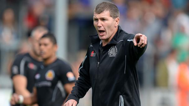 Exeter head coach Rob Baxter is relishing Sunday's clash with Saracens