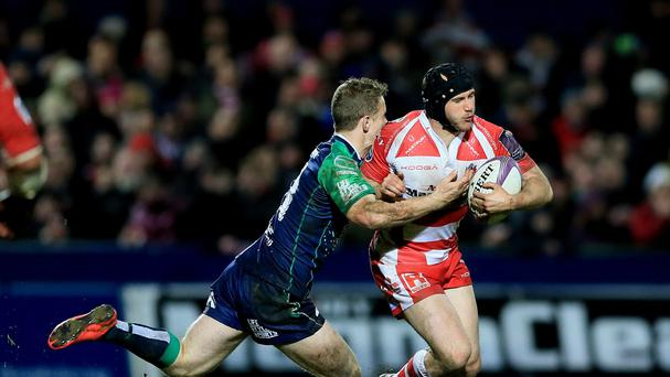 Matt Healy, left, was among the tries for Connacht