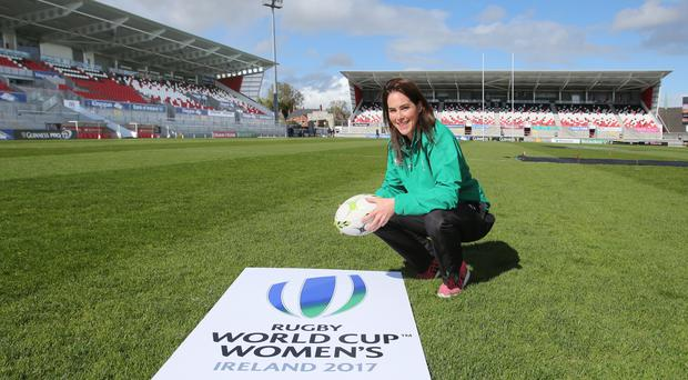 Pitch perfect: Ireland's Nora Stapleton says the whole squad is excited at the prospect of playing in a World Cup on home soil