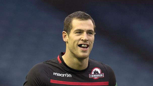 Edinburgh's Tim Visser scored a farewell try