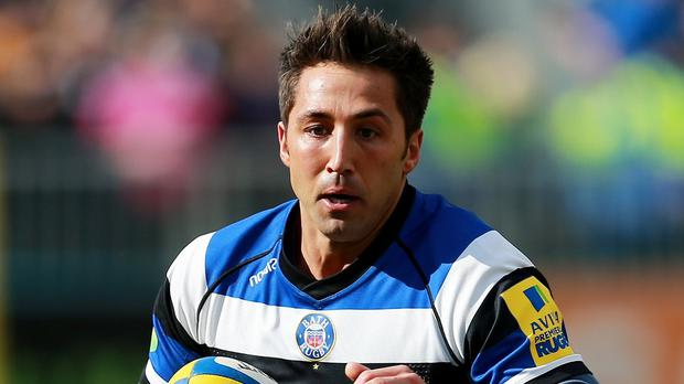 Gavin Henson, pictured during his time at Bath earlier this season, is set to miss the return leg