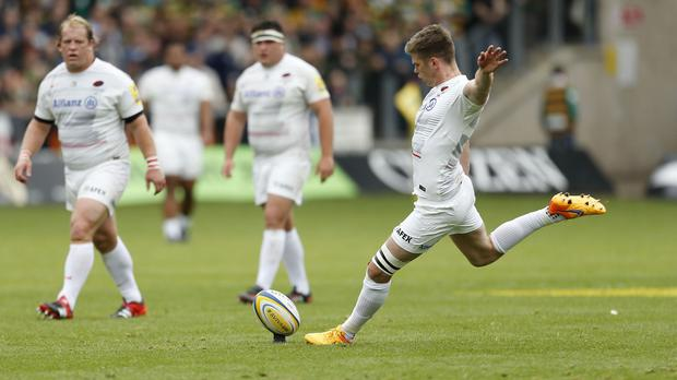 Saracens fly-half Owen Farrell kicked 19 points at Franklin's Gardens