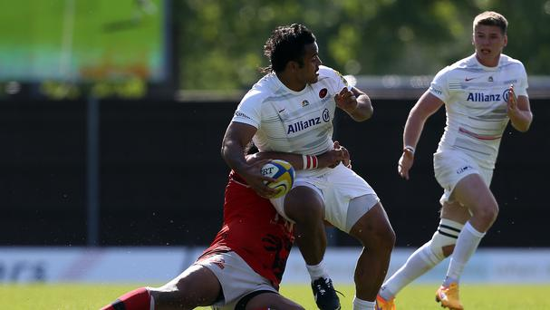 Billy Vunipola (centre) believes the win over Northampton was vital