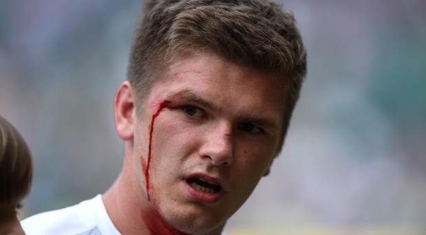 Owen Farrell, pictured, has escaped a citing for his high tackle on Anthony Watson
