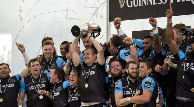 Glasgow Warriors captain Al Kellock bowed out of professional rugby as a Guinness Pro12 champion
