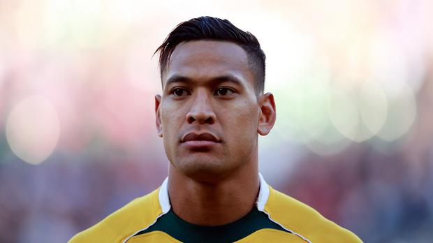 Israel Folau scored a hat-trick for the Waratahs
