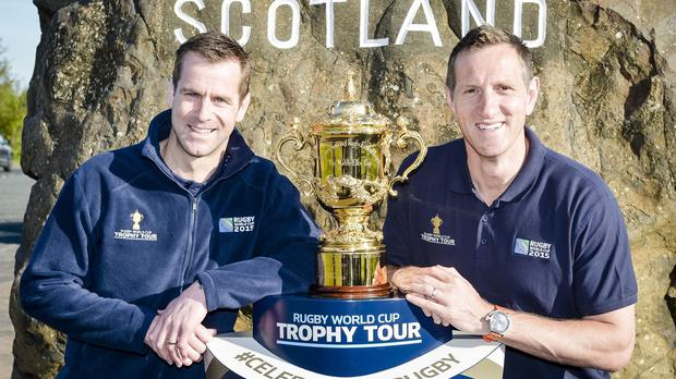 Chris Paterson (left) has defended Vern Cotter's decision to call up the latest batch of tartan imports for Scotland's World Cup training squad.