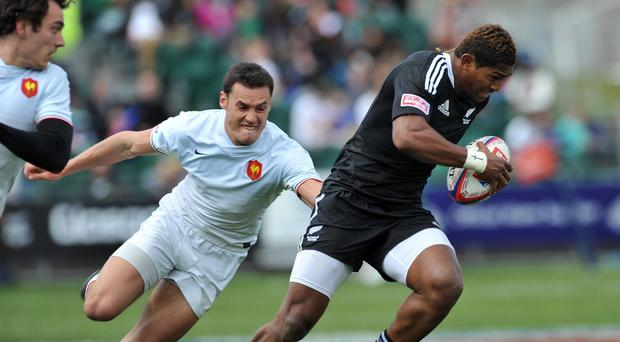 Waisake Naholo touched down twice as the Highlanders saw off the Chiefs