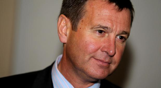 Roger Lewis, pictured, will be succeeded by former B&Q boss Martyn Phillips at the Welsh Rugby Union