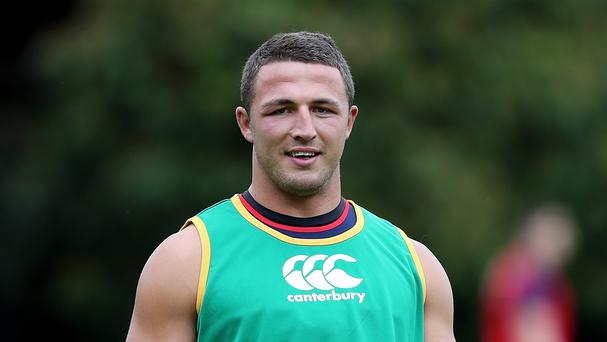 England coach Stuart Lancaster sees Sam Burgess, pictured, playing in the centre channels