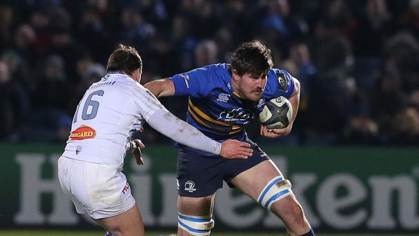 Lock Kane Douglas, right, has been released from his Leinster contract