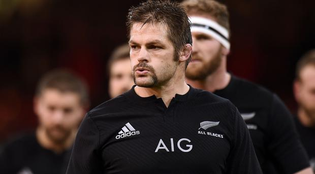 Richie McCaw scored the vital try for New Zealand