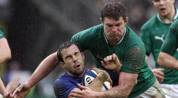 Donnacha Ryan, right, will make his first Test appearance in more than two years for Ireland against Wales