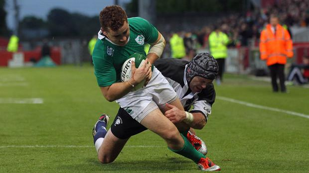 Paddy Jackson, left, has been challenged to exude authority in his bid to make Ireland's final World Cup squad