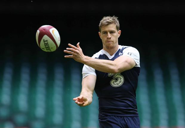 Thrown into the mix: Andrew Trimble, hoping to secure a spot in the World Cup squad, at the Captain's Run yesterday