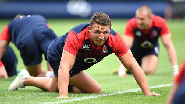 England have named Sam Burgess at inside centre against France on Saturday