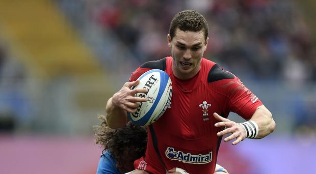 George North took part in Wales' open training session
