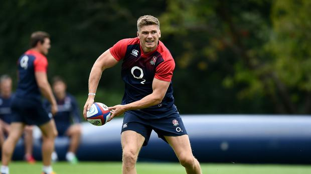 Owen Farrell is battling for the fly-half role at the Rugby World Cup