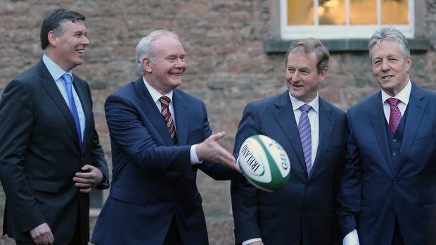 Chief executive Philip Browne, left, was due to discuss Ireland's latest set of accounts