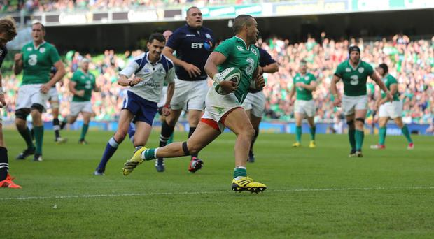 Simon Zebo got on the scoresheet as Ireland beat Scotland in Dublin