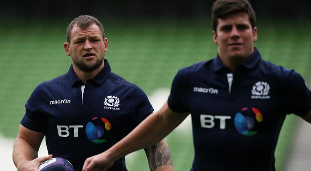 Ryan Grant, left, is now a World Cup doubt after suffering an ankle problem against Ireland