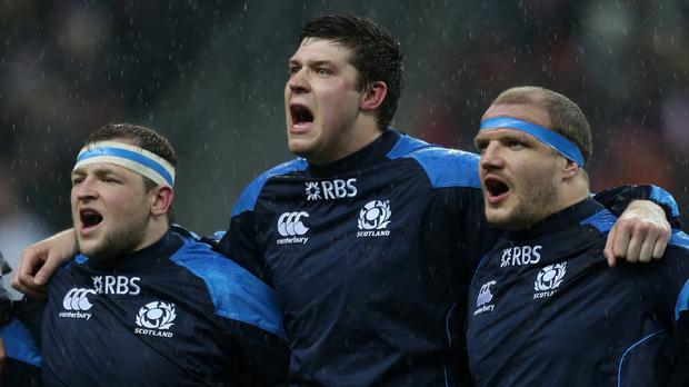 Grant Gilchrist, centre, is pleased to be back playing for Scotland