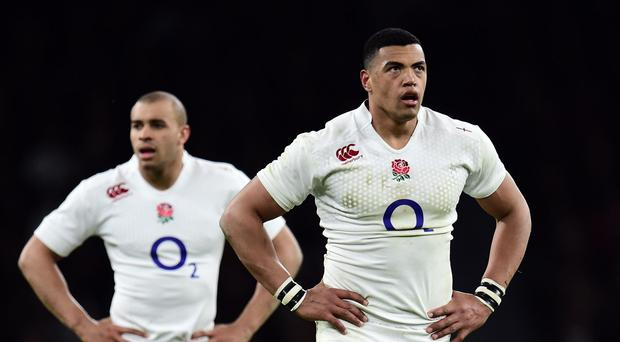 Luther Burrell, pictured right, can make his case to join Jonathan Joseph, left, in Stuart Lancaster's England squad