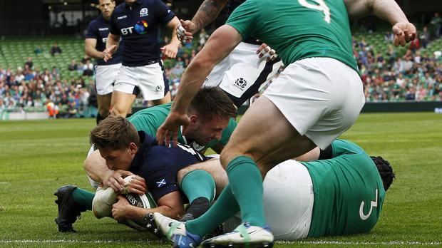 Henry Pyrgos scored against Ireland last week and followed it up with the winning try as Scotland beat Italy on Saturday