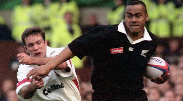 Jonah Lomu (right) is a big draw, despite never having won the Rugby World Cup