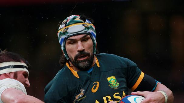 South Africa lock Victor Matfield has been selected to play in his fourth World Cup tournament