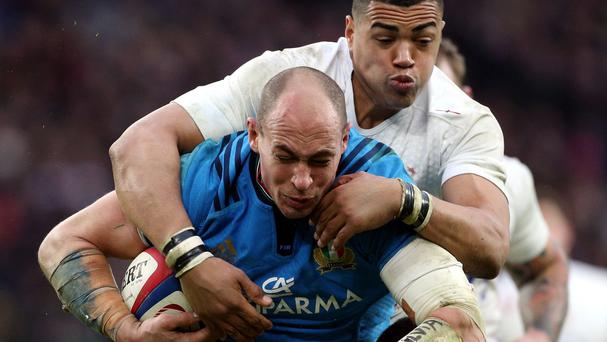 Sergio Parisse, centre, is now a doubt for Italy's World Cup campaign