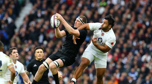 Brodie Retallick, with ball, is itching to get stuck into his first World Cup experience