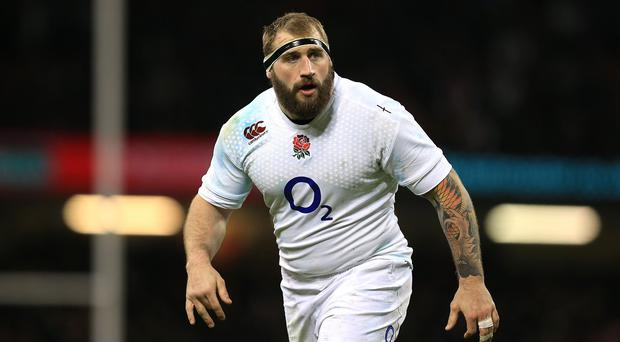 Joe Marler and his England team-mates joined Take That on stage for last Wednesday's glitzy 'Wear The Rose Live'