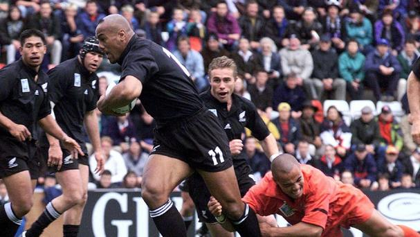 Jonah Lomu scored 15 tries for New Zealand across the 1995 and 1999 World Cups