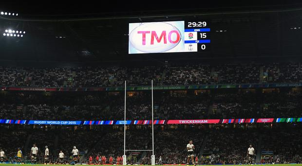 The television match official was kept busy in England's World Cup opener