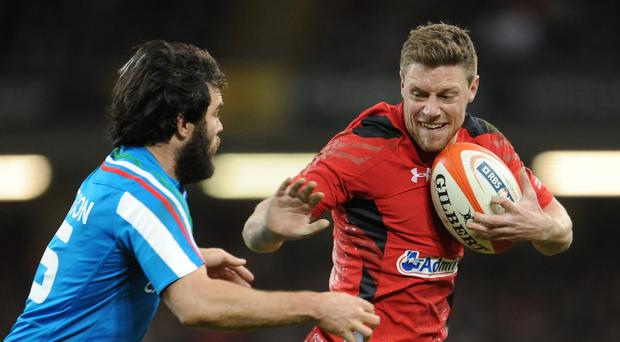 Rhys Priestland, right, will make his first Test start for 10 months on Sunday