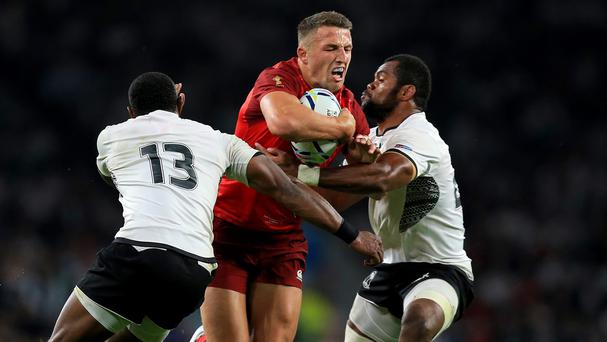 England's Sam Burgess made an impact in Friday's 35-11 victory over Fiji