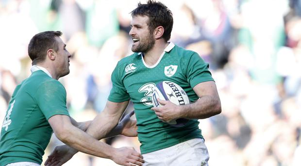 Jared Payne, right, is keen to see Robbie Henshaw back in action for Ireland