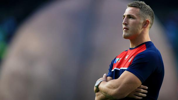 Sam Burgess, pictured, and Brad Barritt look set to start after Jonathan Joseph became a major doubt for the Twickenham showdown