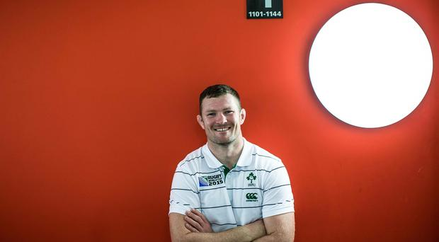 Lucky boy: Donnacha Ryan is thrilled to be on the big stage with Ireland at the World Cup