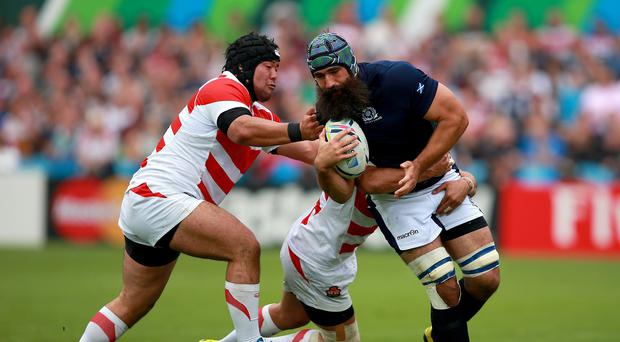 Scotland's Josh Strauss (right) says he is ready to start against the United States on Sunday after making his Dark Blues bow in the win over Japan