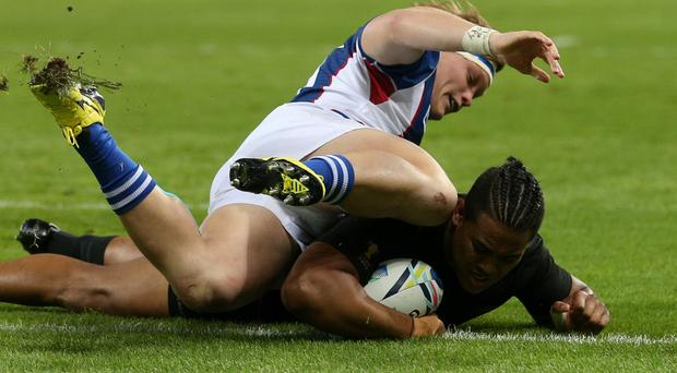 Julian Savea was among the tryscorers as New Zealand saw off the challenge of Namibia in London