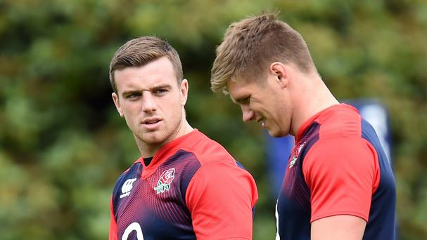 George Ford, left, has been dropped by England in favour of Owen Farrell