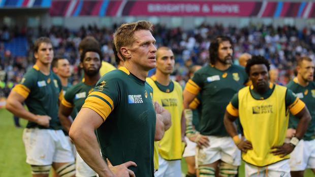 South Africa skipper Jean de Villiers says the Springboks have to make amends for their Japan defeat