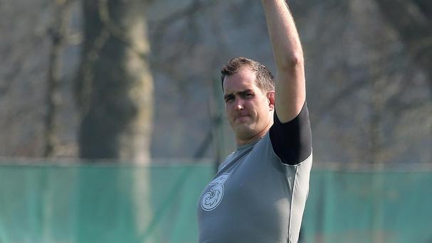Devin Toner, pictured, is ready to put his hand up for further World Cup selection against Romania on Sunday