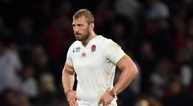 There were words of comfort for Chris Robshaw, pictured, from Samuel L Jackson after England's loss to Wales