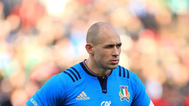 Sergio Parisse, pictured, will join Italy's World Cup camp on Tuesday following injury