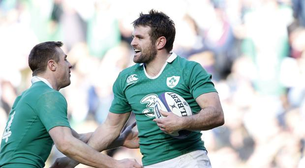 Jared Payne, pictured, remains a big doubt for Ireland's World Cup clash with Italy with a bruised foot