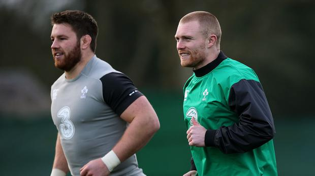 Keith Earls, right, will start at outside centre replacing the injured Jared Payne for Ireland