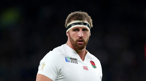 Tom Wood was one of only two England players to speak with media after the match finished
